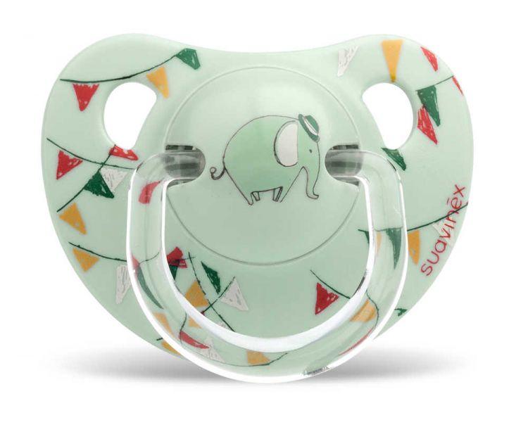 Suavinex - Suavinex Kauçuk Ortodontik Emzik (6-18 ay) Tekli Le Cirque (Yeşil)