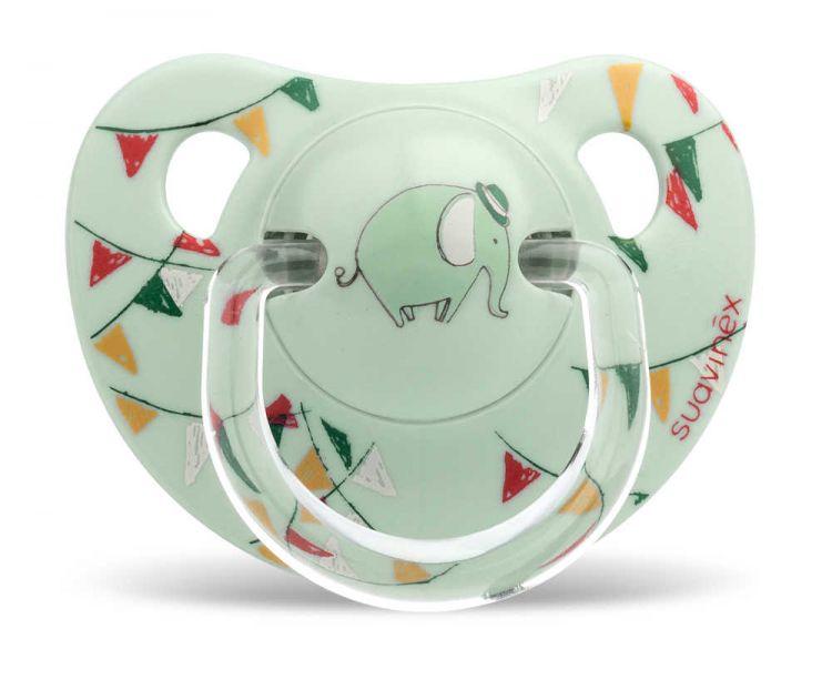 Suavinex - Suavinex Ortodontik Silikon Emzik ( 6 - 18 ay) Tekli Le Cirque (Yeşil)