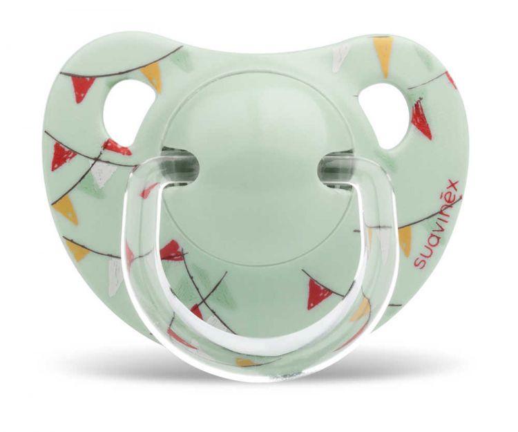 Suavinex - Suavinex Silikon Ortodontik Emzik ( 0-6 ay) Le Cirque (Yeşil)