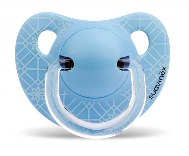 Suavinex - Suavinex Silikon Ortodontik Emzik ( 0-6 ay) Panda (Mavi)