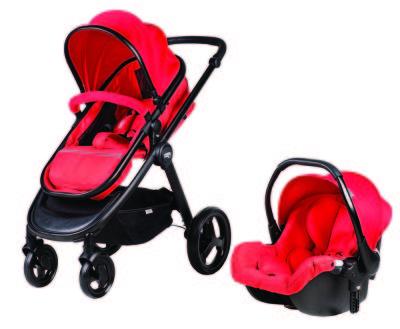 Sunny Baby - Sunny Baby 744 Calibra Travel Set Bebek Arabası Kırmızı