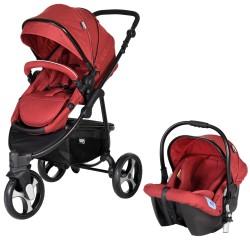 Sunny Baby - Sunny Baby 772 Camenta Joger Travel Set Bebek Arabası Kırmızı