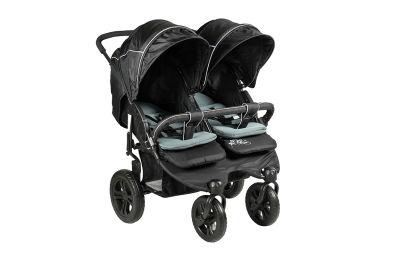 Sunny Baby - Sunny Baby 814 Sweety İkiz Bebek Arabası - Siyah