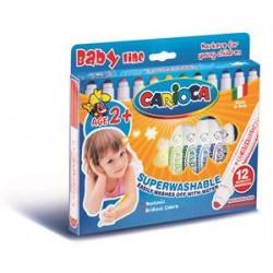 Carioca - Carioca Bebekler İçin Yıkanabilir Keçeli Boya Kalemi 12li