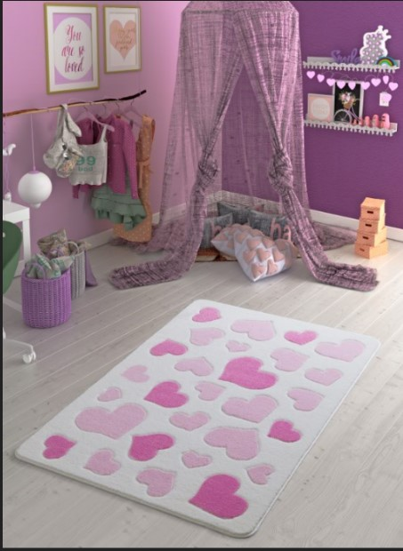 Confetti - Confetti Sweet Love 133x190 Pembe Oymalı