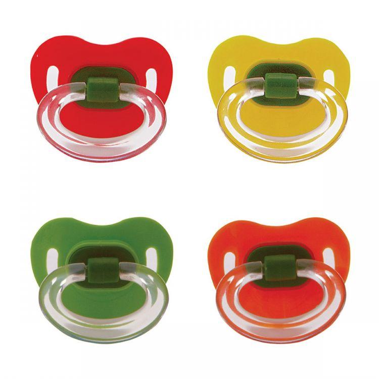 Tombik - Tombik %0 BPA Silikon Damaklı Emzik 0 ay+ / Değişik Renk