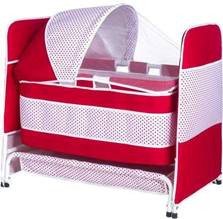 TOMMYBABY - Tommybaby 2019 Baby Crib Sepet Bebek Beşik Kırmızı