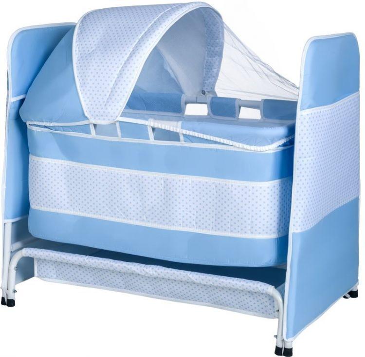 TOMMYBABY - Tommybaby 2019 Baby Crib Sepet Bebek Beşik Mavi
