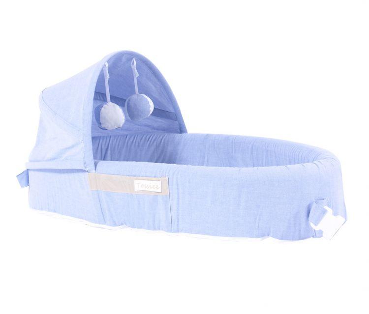 Tossiee - Tossiee Portatif Bebek Yatağı - Deniz Mavisi
