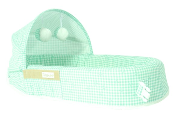 Tossiee - Tossiee Portatif Bebek Yatağı - Yeşil Pötikare