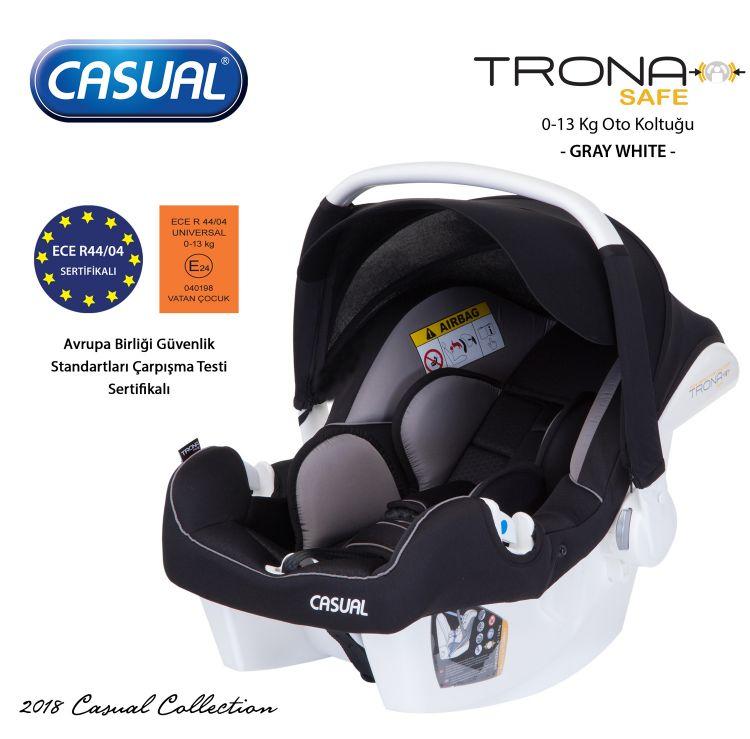 Casual - Trona Safe 0-13 Kg Oto Koltuğu - Gray
