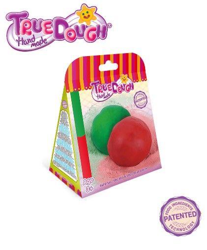 TrueDough - TrueDough Doğal Oyun Hamuru Yedek İkili Paket (Kırmızı & Yeşil)