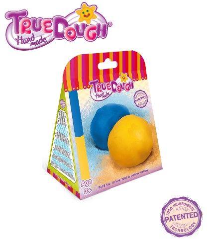 TrueDough - TrueDough Doğal Oyun Hamuru Yedek İkili Paket (Mavi & Sarı)