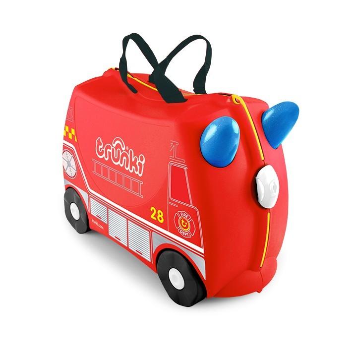 Trunki - Trunki Çocuk Bavulu - İtfaiye Aracı Frank