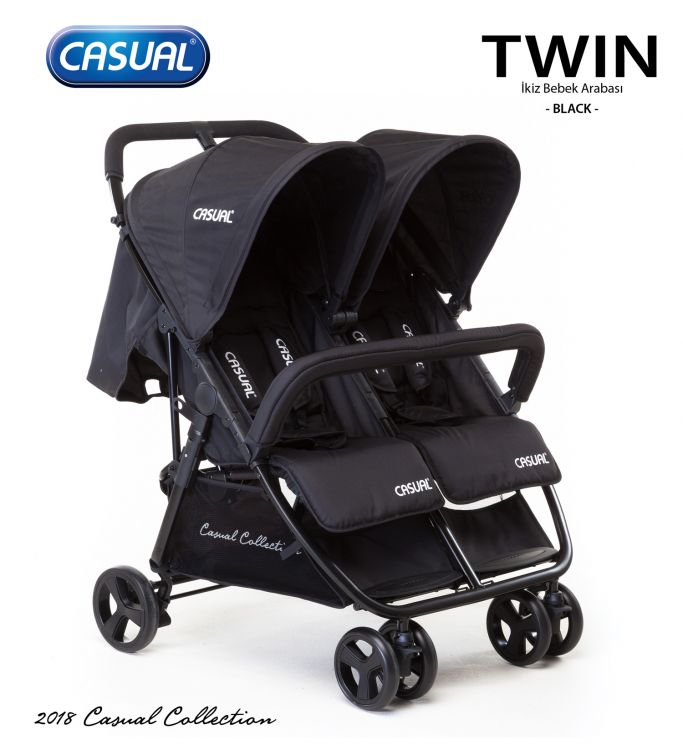 Casual - Twin İkiz Bebek Arabası - Black