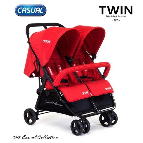 Casual - Casual Twin İkiz Bebek Arabası - Red