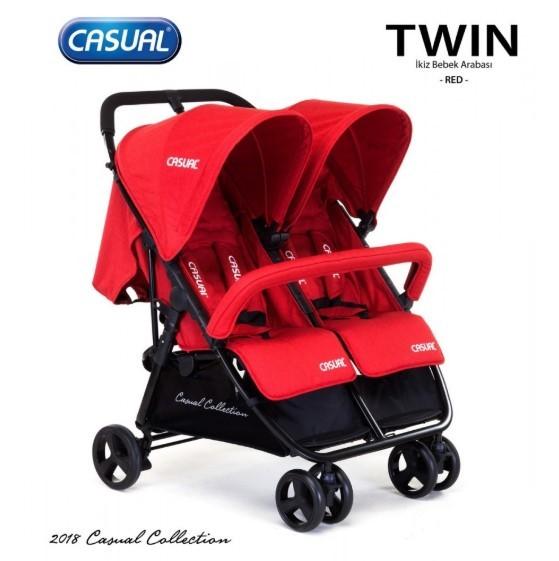 Casual - Casual Twin İkiz Bebek Arabası - Red