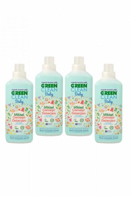 U Green Clean - U Green Clean Baby Bitkisel Çamaşır Deterjanı 1000Ml X 4 Adet