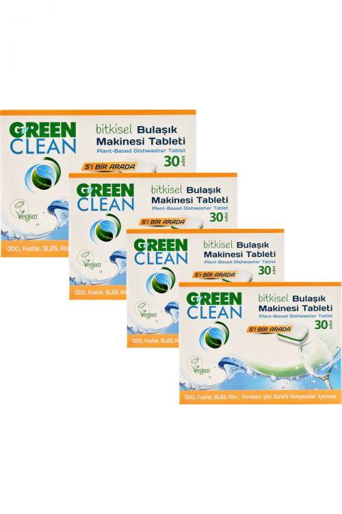 U Green Clean - U Green Clean Bitkisel Bulaşık Makinesi Tableti 30lu x 4 Adet