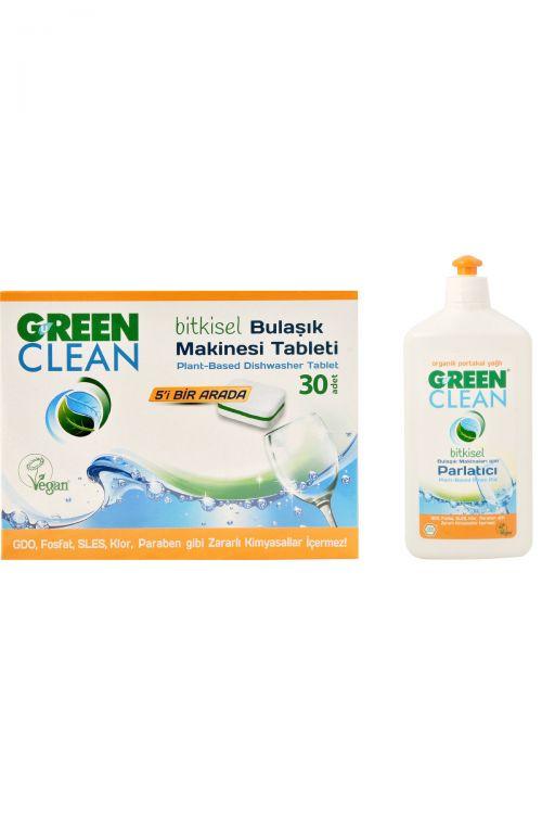 U Green Clean - U Green Clean Bulaşık Makinesi Tableti Ve Parlatıcı Seti