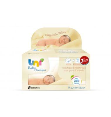 Uni Baby - Uni Baby Yenidoğan Islak Pamuk Mendil 3`lü