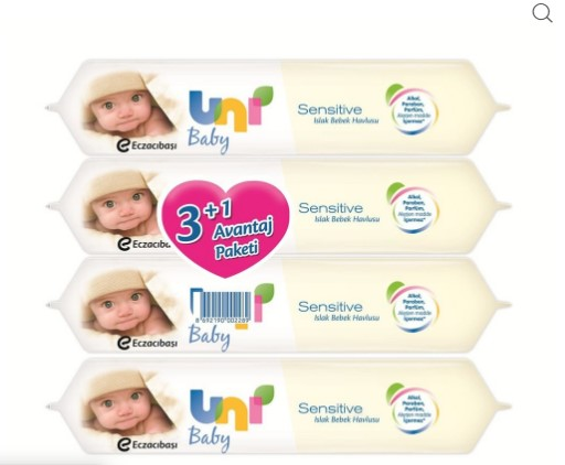 Uni Baby - Uni Baby Sensitive Islak Havlu 3+1