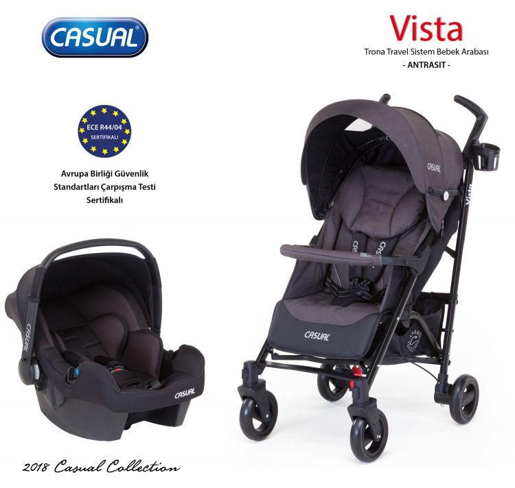 Casual - Vista Trona Travel Sistem Bebek Arabası - Antrasit