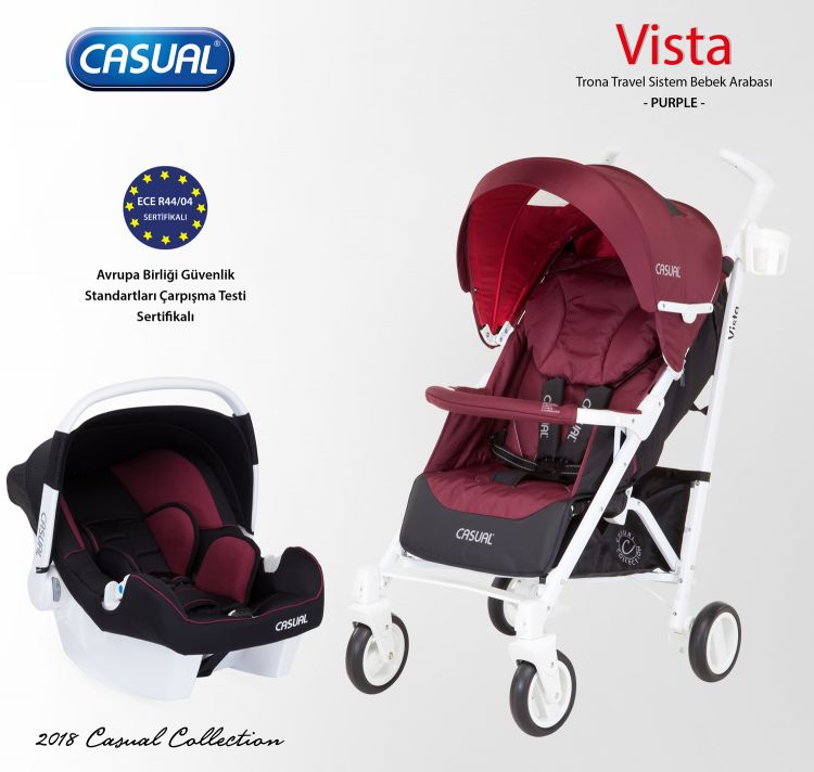 Casual - Vista Trona Travel Sistem Bebek Arabası - Purple