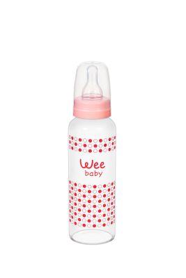 WeeBaby - Wee Baby 772 Isıya Dayanıklı Cam Biberon 240ml - Pembe