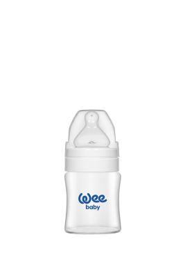 WeeBaby - Wee Baby 787 Geniş Ağızlı Isıya Dayanıklı Cam Biberon 120 ml - Beyaz