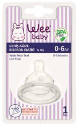 WeeBaby - Wee Baby 828 Geniş Ağızlı Biberon Emziği Az Akış 0-6 Ay