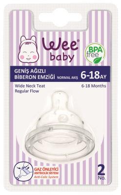 WeeBaby - Wee Baby 853 Geniş Ağızlı Biberon Emziği Normal Akış 6-18 Ay