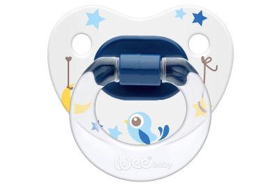 WeeBaby - Wee Baby Desenli Gövdeli Damaklı Emzik 6-18 Ay