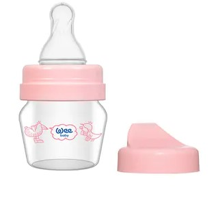 WeeBaby - Wee Baby Mini Cam Alıştırma Bardağı Seti 30 ml Pembe