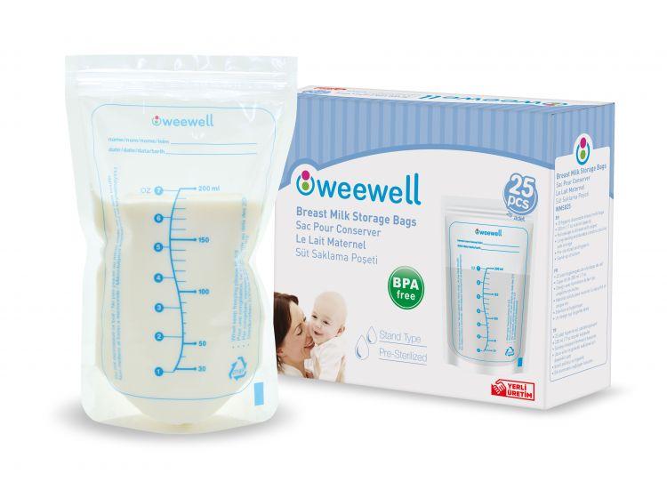 Weewell - Weewel WMS825 Süt Saklama Poşeti- 25'li
