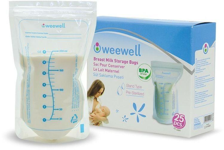 Weewell - Weewell WMS800 Süt Saklama Poşeti 25'li