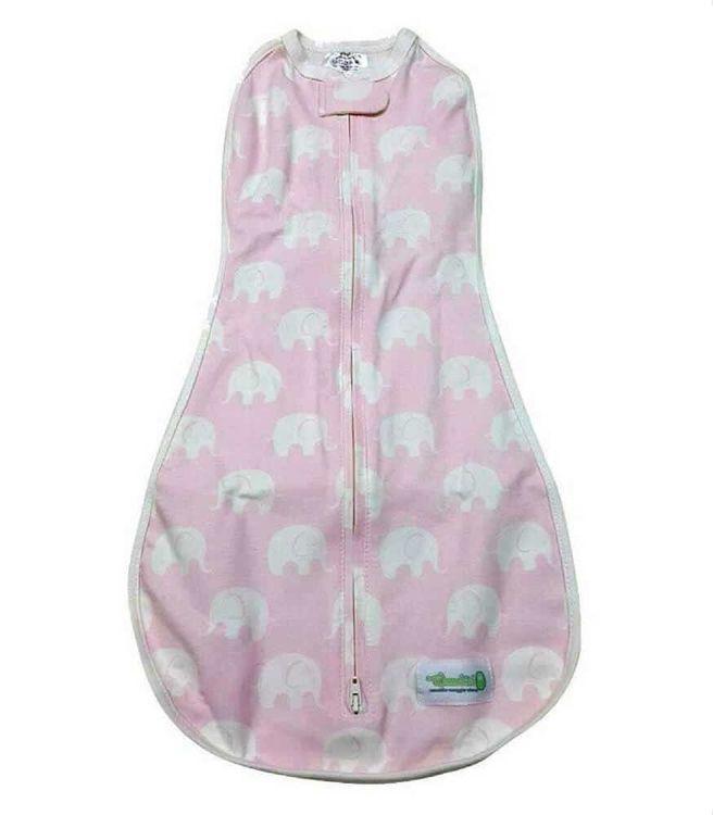 Owli - Woombie Original Kundak Baby Pink Elephant 2,5-6 kg