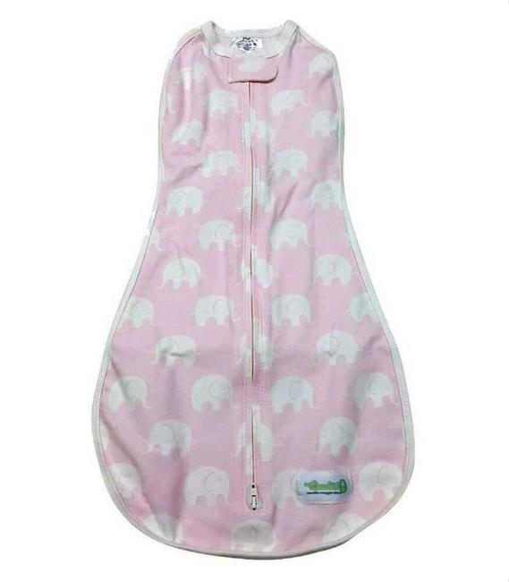 Woombie - Woombie Original Kundak Baby Pink Elephant 6,5-9 kg