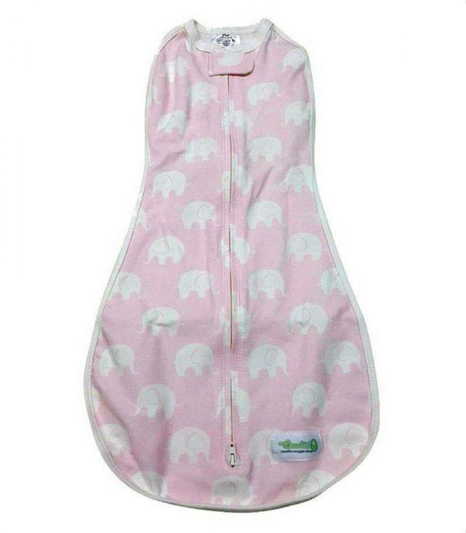 Woombie - Woombie Original Kundak Baby Pink Elephant