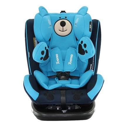 Yoyko - Yoyko Bear Dönebilir Yatabilir 0-36 Kg Oto Koltuğu ISOFIX/SIP/LATCH Mavi