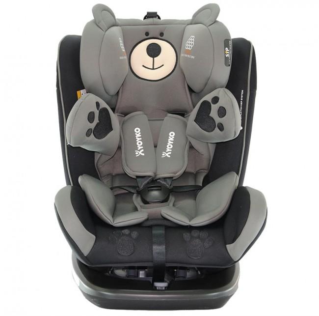 Yoyko - Yoyko Bear Dönebilir Yatabilir 0-36 Kg Oto Koltuğu ISOFIX/SIP/LATCH Siyah