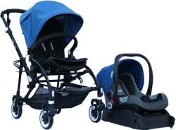 Yoyko - Yoyko Easyo Travel Sistem Çift Bebek Arabası Mavi