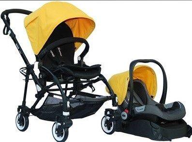 Yoyko - Yoyko Easyo Travel Sistem Çift Bebek Arabası Sarı