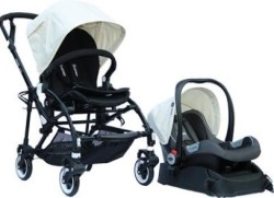 Yoyko - Yoyko Easyo Travel Sistem Çift Bebek Arabası Krem