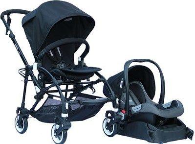 Yoyko - Yoyko Easyo Travel Sistem Çift Bebek Arabası Siyah