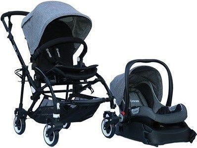 Yoyko - Yoyko Easyo Travel Sistem Çift Bebek Arabası Gri