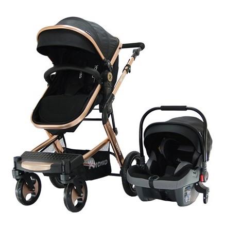 Yoyko - Yoyko Elegance Travel Sistem Bebek Arabası 3 in 1 Siyah Rose