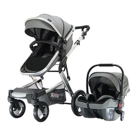 Yoyko - Yoyko Elegance Travel Sistem Bebek Arabası 3 in 1 Gri Silver