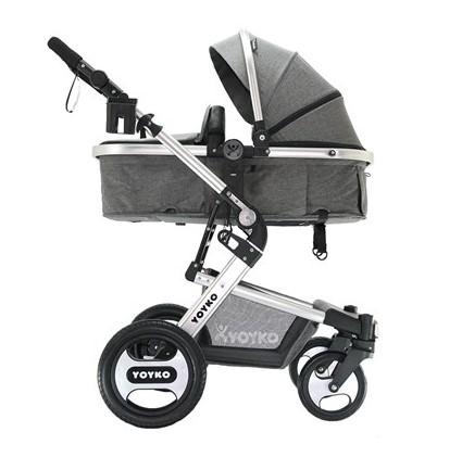Yoyko Elegance Travel Sistem Bebek Arabası 3 in 1 Gri Silver - Thumbnail