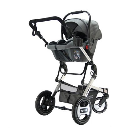 Yoyko Elegance Travel Sistem Bebek Arabası 3 in 1 Gri Silver